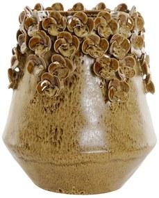 Vaso DKD Home Decor Ocre Grés (18 x 18 x 20 cm)