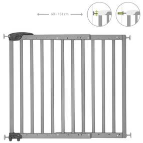 429193 Badabulle Portão de segurança extensível Deco Pop 63-106 cm cinzento