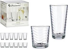 Conjunto de Copos Transparente Vidro (12 Peças)