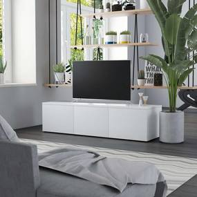 801868 vidaXL Móvel de TV 120x34x30 cm contraplacado branco