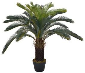280185 vidaXL Palmeira cica artificial com vaso 90 cm verde