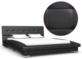 280618 vidaXL Estrutura de cama 200x120 cm couro artificial preto