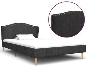 280637 vidaXL Estrutura de cama em tecido 90x200 cm cinzento-escuro