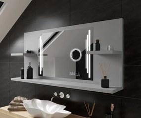 Espelho com iluminação e com prateleiras LED L27