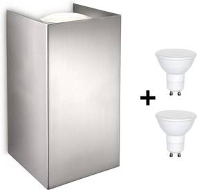 Philips 33012/17/PN - Luz de parede LED GABARDINE 2xGU10/6W/230V