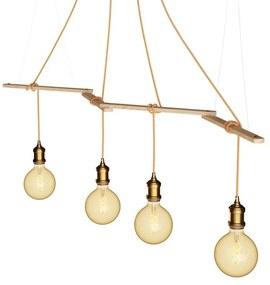 Zigh-Zagh, suporte de teto de madeira ajustável para lâmpadas pendentes
