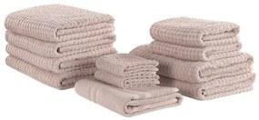 Conjunto de 11 toalhas rosa de algodão ATAI