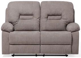Sofá de 2 lugares reclinável em tecido taupe BERGEN