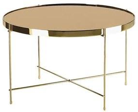 Mesa de centro ø 63 cm castanha e dourada LUCEA