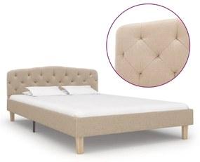284932 vidaXL Estrutura de cama 120x200 cm tecido bege