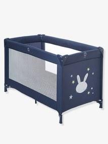 Cama de apoio, VERTBAUDET Travel'bed azul escuro liso com motivo