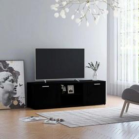 801162 vidaXL Móvel de TV 120x34x37 cm contraplacado preto