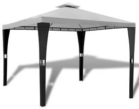 41450 vidaXL Gazebo com telhado 3 x 3 m branco creme