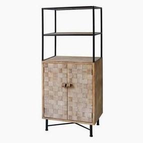 Estantes Metal e madeira de abeto (145 X 60 x 38 cm)