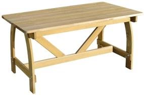 41962 vidaXL Mesa de jardim 150x74x75 cm madeira de pinho impregnada