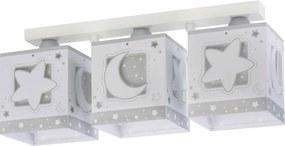 Dalber 63233NE - Luz de teto de criança MOONLIGHT 3xE27/60W/230V