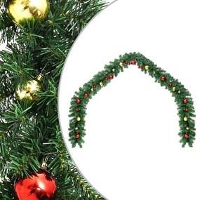 284307 vidaXL Grinalda de Natal decorada com enfeites 20 m