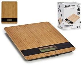 balança de cozinha (17 x 2 x 23 cm) Digital Bambu