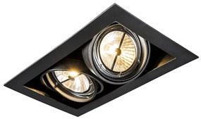 Foco de encastrar preto dirigível 2-luzes - ONEON 111-2 Design,Moderno