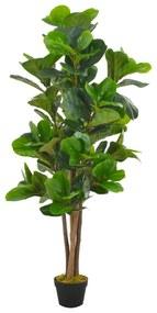 280173 vidaXL Planta figo folhas de violino artificial com vaso 152 cm verde