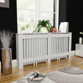 244340 vidaXL Cobertura de radiador MDF 172 cm branco