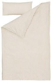Kave Home - Set Ghia de lençol,capa edredão,capa almofada 100% algodão orgânico (GOTS) riscas 70x140cm