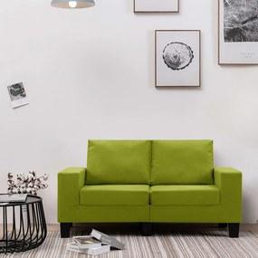 287115 vidaXL Sofá de 2 lugares em tecido verde